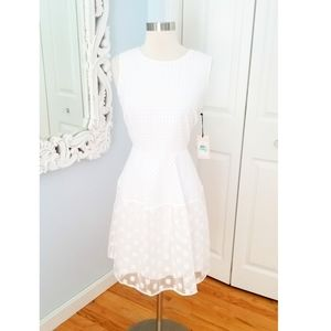 NWT Ivanka Trump White Lace Midi Dress Size 8